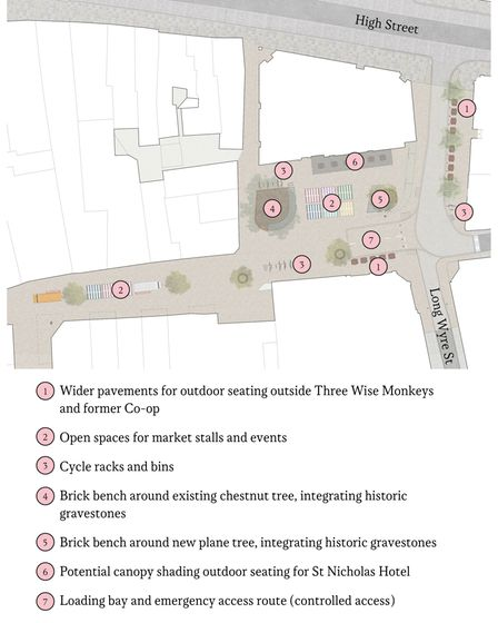 How St Nicholas Square would be set out.