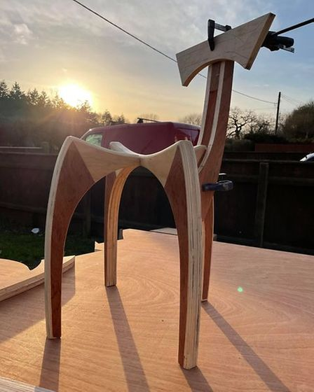 One of the sustainable chairs the brothers have made.