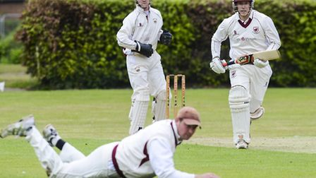 Great Witchingham won in the EAPL on Saturday - but couldn't beat Old Buckenham, pictured batting he