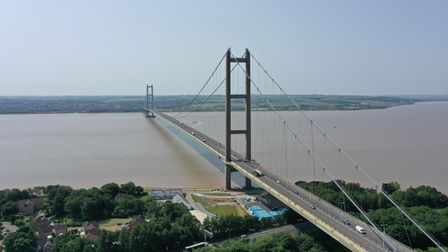 A view of the Humber Bridge, near Kingston upon Hull, East Riding of Yorkshire, which is a 2.22-kilo