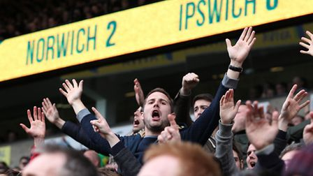 Norwich City fans have enjoyed recent East Anglian derby battles against Ipswich Town. Picture by Pa