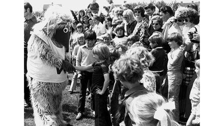 The Wombles were at the St Benedict's School fete in Bury St Edmunds in June 1974