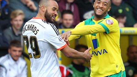 Nathan Redmond scored one and had two assists in Norwich City's 4-2 Championship win over Fulham. Pi