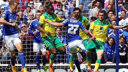 Ted Bishop Town has a shot on goal. Picture: Paul Chesterton/Focus Images Ltd