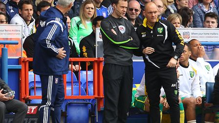 Norwich manager Alex Neil expects another battle against Mick McCarthy's Ipswich at Carrow Road. Pic