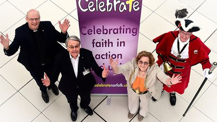Launch of Celebrate Norwich and Norfolk. Left to right, Rev Julian Pursehouse, director of Celebrate