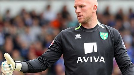 Norwich City keeper John Ruddy remains touted with a summer move to Chelsea in the tabloid. Picture: