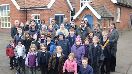 Parents are fighting to save Mileham Primary School from closure. Picture: Ian Burt