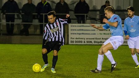Michael Clunan in action for Dereham. Picture: NEIL SMITH
