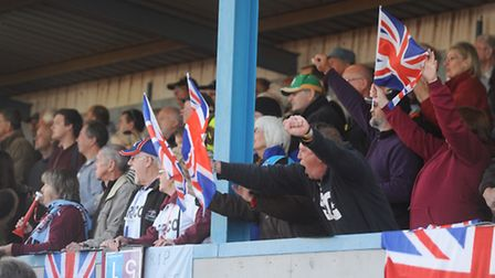 British flags can still wave proudly despite their side's exit from the 2015 Speedway World Cup. Pic