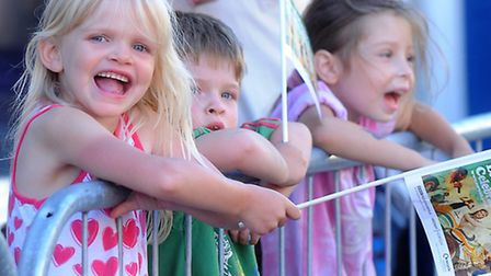 Youngsters enjoying the procession. Photo: Denise Bradley.