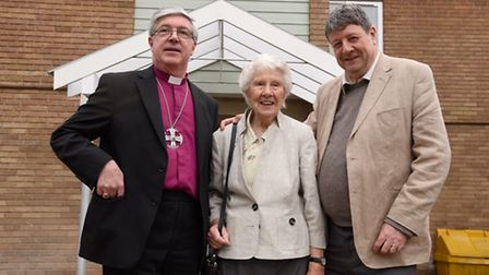Bishop of Norwich Graham James officially opens Dean Alan Webster Court . Lakenfields will provide s