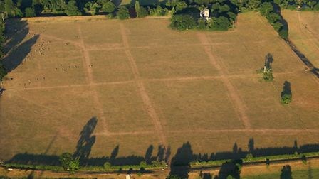 Caistor St Edmund Roman Town seen from the air. Pic: Mike Page.