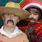 Year 3 pupil Theo Knowles gets into character for his class's Mexico-themed talent show entry. Pictu