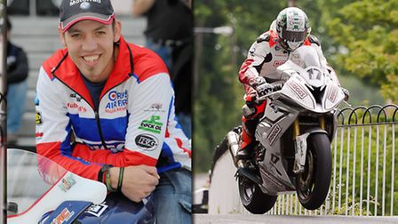 Peter Hickman in action around the Isle of Man, and outside The Forum in Norwich ahead of this weeke