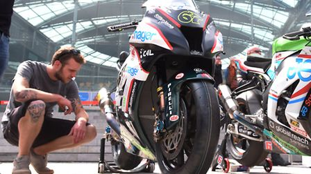 British Superbikes fans got to meet and greet the riders - and bikes - at The Forum in Norwich, ahea