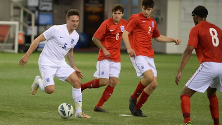 Jack Rutter on the ball during an England CP squad training session. Picture: THE FA/GETTY IMAGES