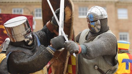 On the Tuesday Market Place, King John sealed the Magna Carta after a heated debate with the barons.