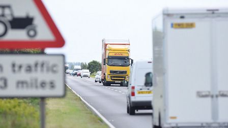 The A47 Acle straight which runs between the village of Acle and Great Yarmouth for about 8 miles.Pi