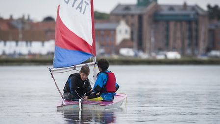 Pupils from Alderman Peel High School take part in sailing lessons on Wells Harbour. Picture: Matthe