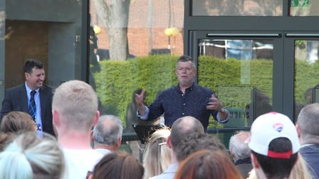 Paston Sixth Form College art and fashion show. Rob John opening the new facilities. Picture: GREG H