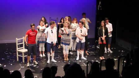 Paston Sixth Form College art and fashion show. Picture: GREG HAYWARD