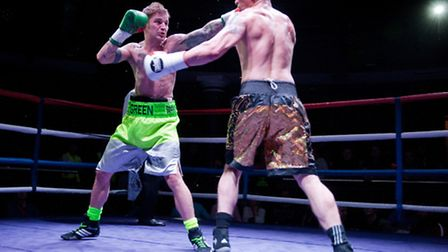 Duane Green (left) takes on the difficult Kevin McCauley at Mercy Night Club. Photo: Jerry Daws/Stil