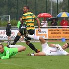 Lewis Grabban fires the winner in Norwich City's 2-1 friendly win over FC Augsburg in Prien, Germany