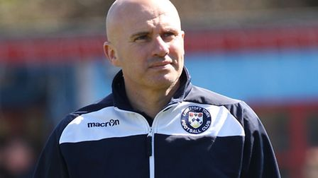 Ady Gallagher, manager of Lowestoft Town. Picture by Michael Sedgwick/Focus Images Ltd