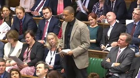 Clive Lewis asks his first question to the Prime Minister