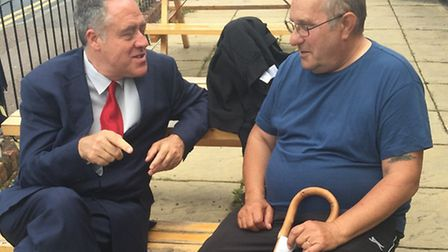 King's Lynn veteran Ian Lund, right, with Richard Howitt. Picture submitted