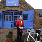 Kevin Frazer, of Eaton, runs a blog reviewing cafes on his cycling trips. Pictured at The Art Cafe,