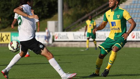 Nathan Redmond returned to action with Norwich City against Maccabi Haifa in Monday's pre season fri
