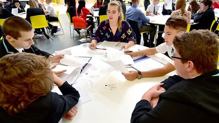 Open Academy students spend the day with business mentors. Picture: ANTONY KELLY