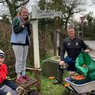Withycombe Rugby juniors on the big tidy