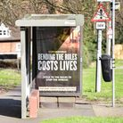 Coronavirus adverts have been placed in bus stops around Ipswich. Picture: SARAH LUCY BROWN