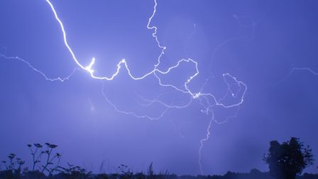 After more than three ours chasing across Norfolk, Dan Holley finally managed to capture this lightn
