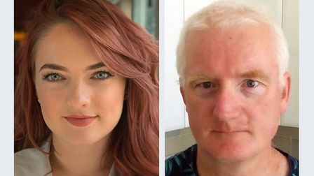 New City College studentsKayleigh Stevens and Paul Kelly study online