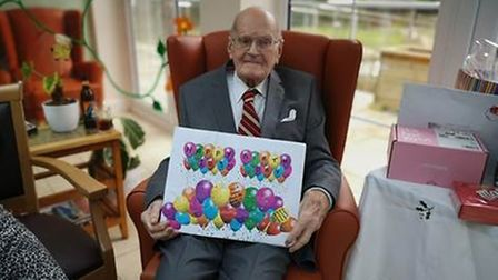 Wilfred Goddard was shocked by the amount of cards he received for his birthday