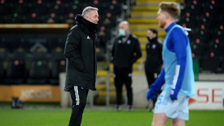 Ipswich Manager Paul Lambert during the warm-up at Hull City
