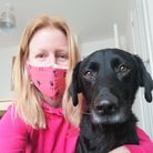 Leanne Bunn,ofClippers Dog Grooming in North Walsham, with Barney the dog.
