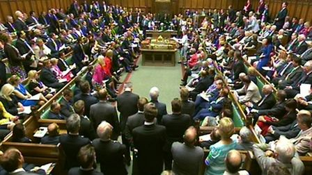 Acting Labour party leader Harriet Harman speaks during Prime Minister's Questions in the House of C