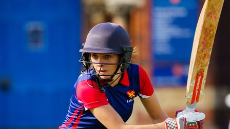 Jess Olorenshaw of Felsted in action
