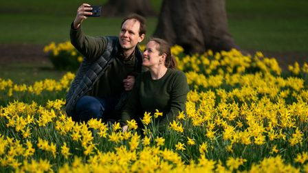 Norfolk has seen May-like temperatures as frozen February was replaced by the 'the first hints of spring'.