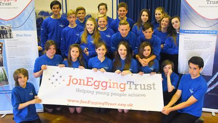 Downham Market Academy students were awarded their Jon Egging Trust graduation certificates by CEO D