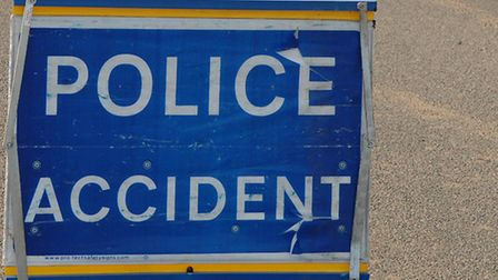 Police accident sign.