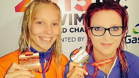 Jessica-Jane Applegate, right, used her Twitter account (@jessica_jane96) to post a photo of her IPC