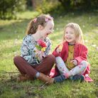 Maria and Anna Gornall enjoying the spring sunshine. Picture: SARAH LUCY BROWN