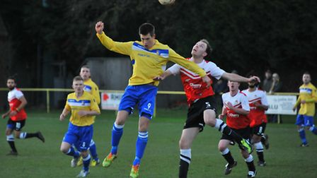 Norwich Utd V Wivenhoe Town. Ben Thompson.Picture by SIMON FINLAY.