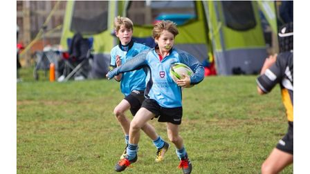 Youngsters at Woodbridge Rugby Club before coronavirus restrictions